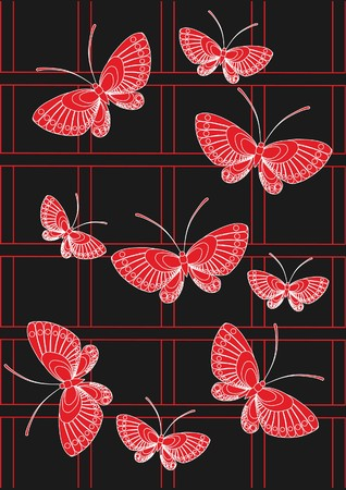 red butterfly Stock Vector - 7925229