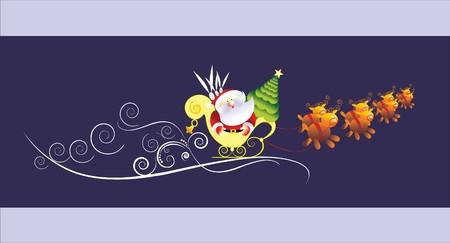 christmas sledge Vector
