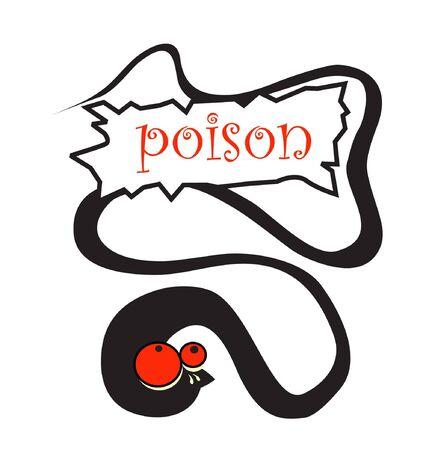 poison snake Stock Vector - 7924990