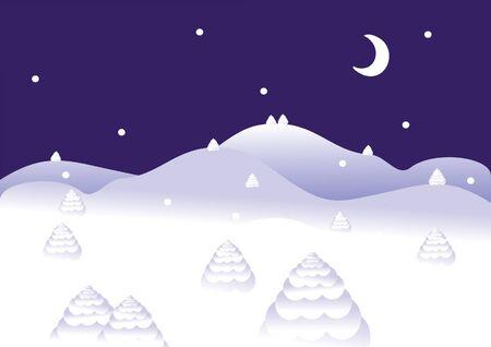 winter night Stock Vector - 7925222