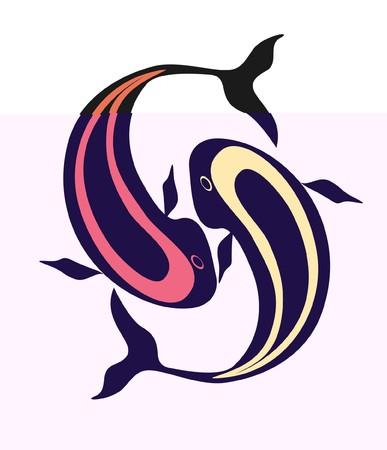 dolphin tattoo Vector