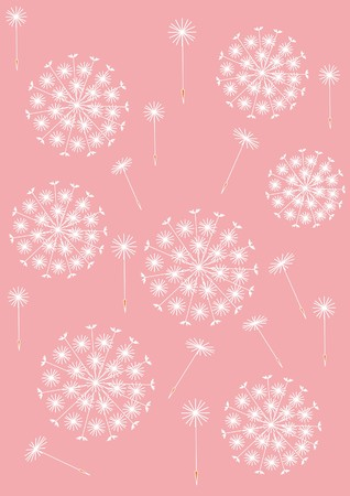 dandelion pattern pink Stock Vector - 7925310