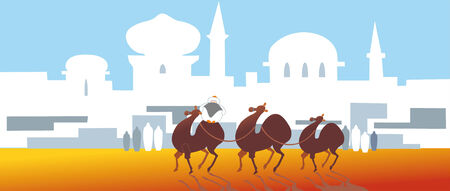 convoy: cammelli  Vettoriali