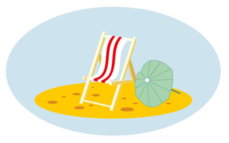 chaise: chaise lounge and umbrella