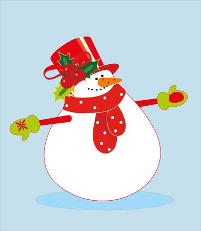 snowman Stock Vector - 8298363