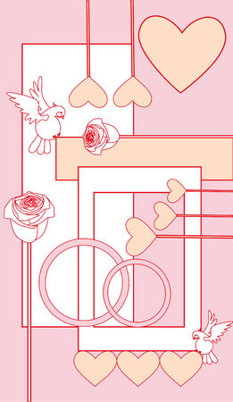 valentine background Stock Vector - 8298343