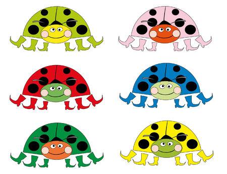 lady cow: color ladybugs