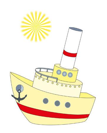 boat and sun