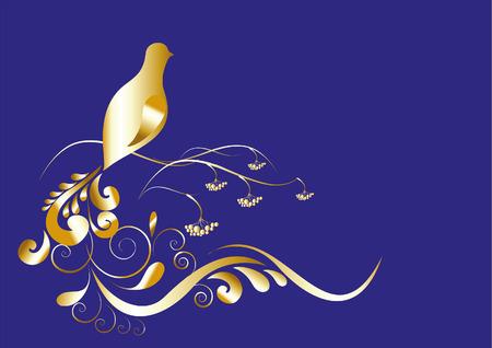 gold  bird Vector