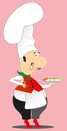 cook take food Vector