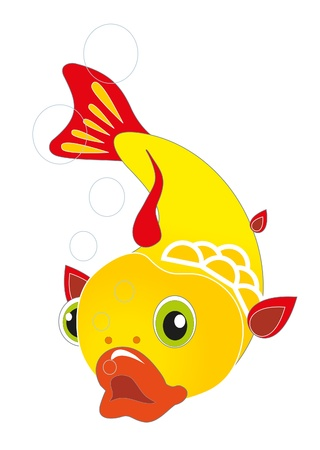 gold fish Stock Vector - 8342461