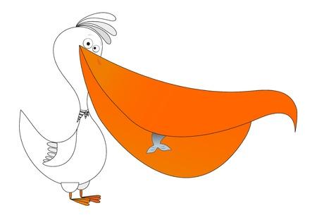 pelican fishing Stock Vector - 8342516