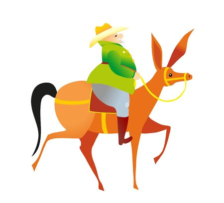 sheriff  and horse Vector