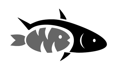 two black fish Vector