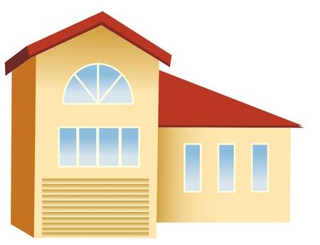 herrenhaus: gro�e Haus mit rotes Dach