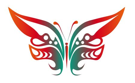 abstract tattoo - a magic butterfly Vector