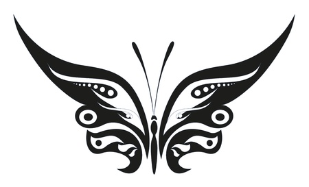 abstrakt Tattoo - ein magischer Schmetterling Vektorgrafik