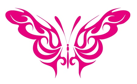 abstract tattoo - a magic butterfly Stock Vector - 8342466