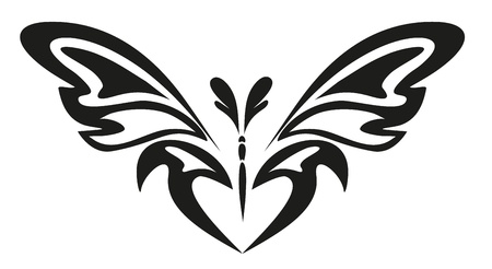 abstract tattoo - a magic butterfly Stock Vector - 8342448