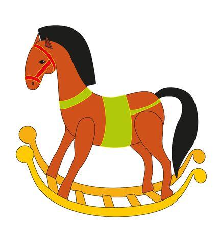 trojan horse: toy horse Illustration