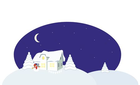 vector illustration - snow home Stock Vector - 8342284