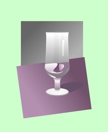 goblet: goblet on green background