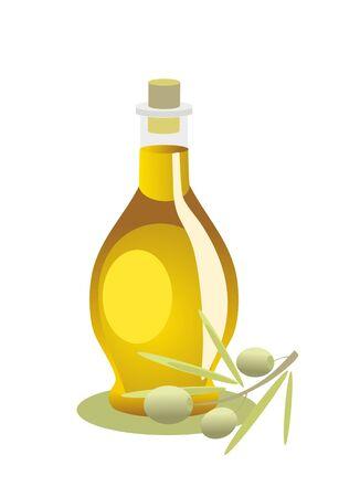 bouteille de l'huile d'olive Vecteurs