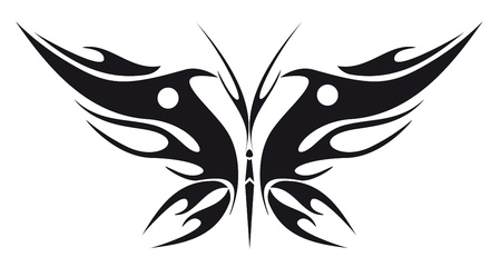 abstract tattoo - a magic butterfly Stock Vector - 8342442