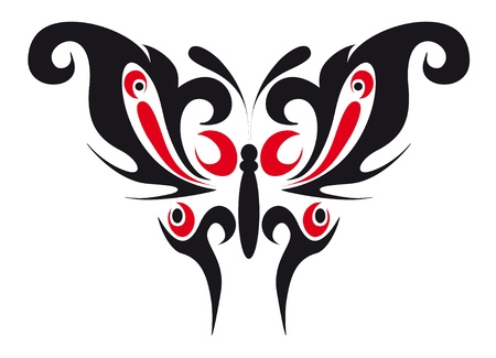 abstract tattoo - a magic butterfly Stock Vector - 8342512
