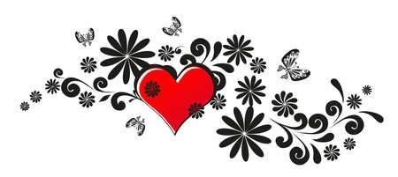 love pattern on white Vector