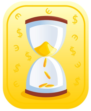money clock Stock Vector - 8342481