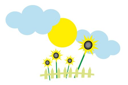 sunflower and blue sky Stock Vector - 8342157