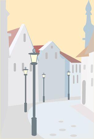 vector illustration - snow street Stock Vector - 8342102