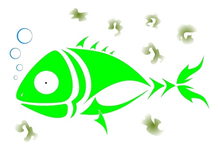 green fish Vector