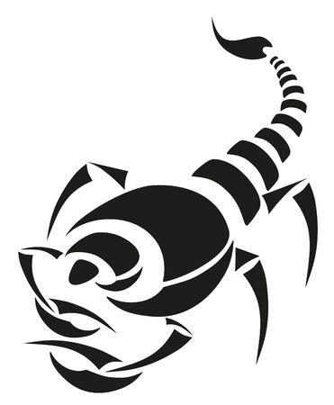 vector tattoo - black scorpion Vector