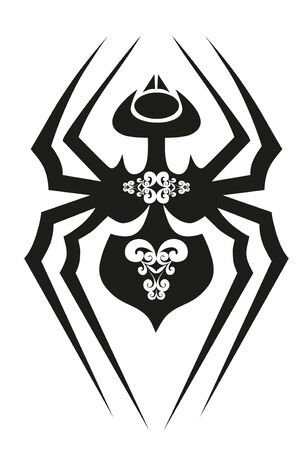 black tattoo - spider Stock Vector - 8342073