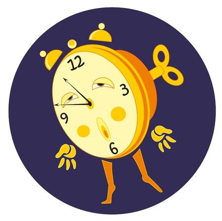 cartoon alarm and key Stock Vector - 8342357