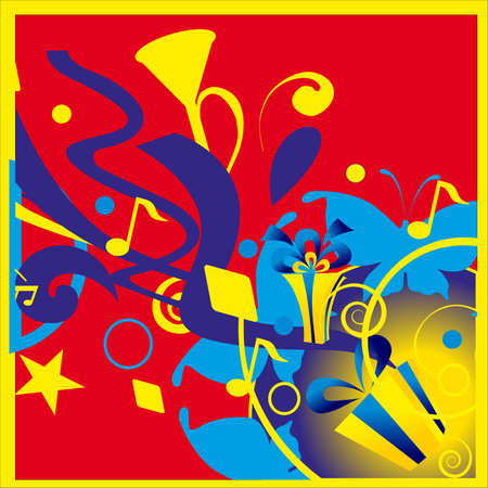 minims: The music registration. Pipe music and star. Illustration