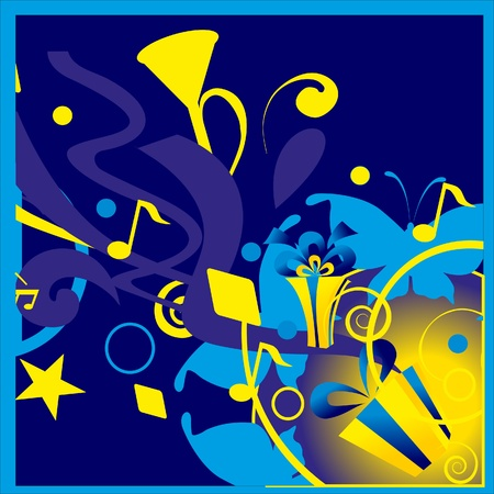 The music registration. Pipe music and star. Vector