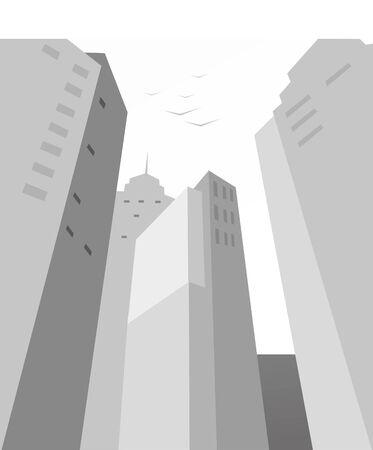 city - Big skyscrapers Vector