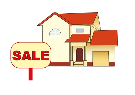 cottage sale Stock Vector - 8376968