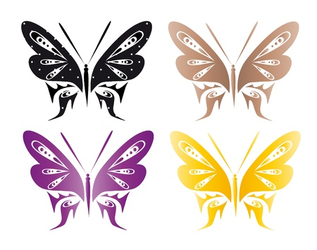 abstract tattoo - a magic butterfly Stock Vector - 8377021