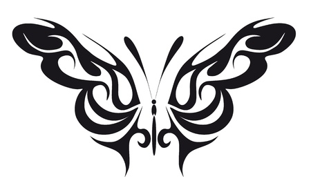 monarch: abstract tattoo - a magic butterfly