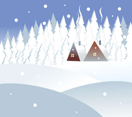 winter home Vector