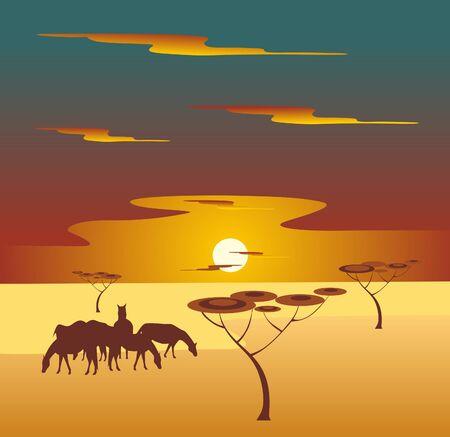africa landscape Vector