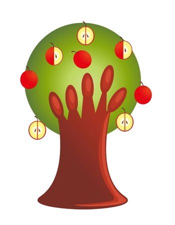 The Fruit tree. Isolated Vector
