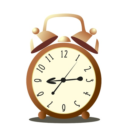 alarm on a white background Vector
