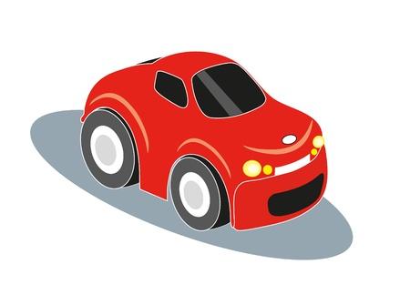 mode of transport: auto rojo