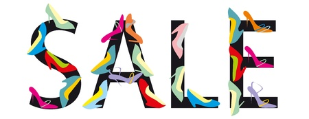 shoe sale: Los holgazanes femeninos de color. La venta de Word.