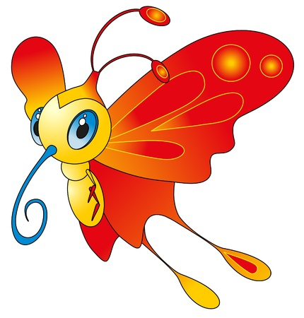 cartoon insect - color butterfly Stock Vector - 8377094